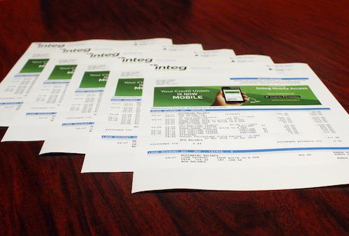 transactional printing statement printing